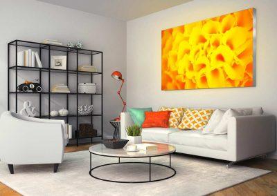 1 led leuchtrahmen octalumina 120 living room wohnzimmer lounge spanntuch textil uv druck fotocredit octanorm eventpoint